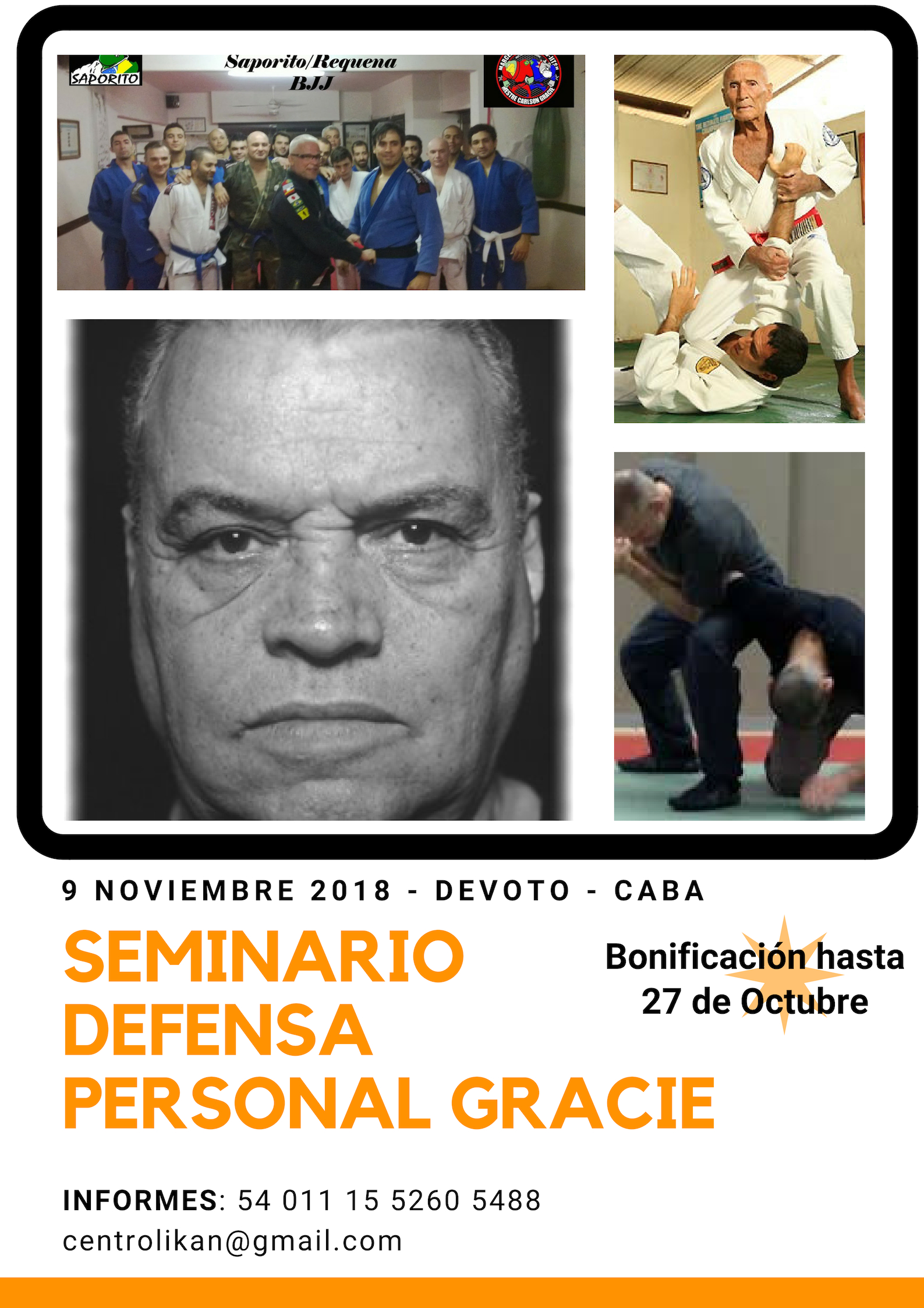 Curso Defensa personal gracie